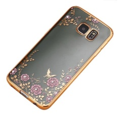 Crystal Rubber Back Plating TPU Soft Case Cover For Samsung Galaxy S7 PK - intl