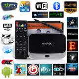 Harga Cs918 Android Tv Box Smart Media Player Wi Fi 1080 P Bluetooth Tv Receiver Steker Inggris International Murah