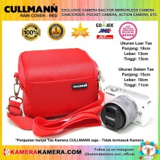 CULLMANN RAIN COVER RED Original Camera Bag for Mirrorless Camera Canon Nikon Sony Camcorder Panasonic and Action Camera GoPro Brica Xiaomi Yi