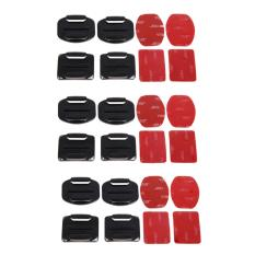Review Pada Curved And Flat Surface 12Pcs Mount 3M Adhesive Sticker Gopro Xiaomi