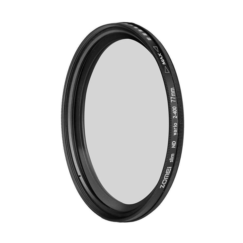 cusepra Mjack® ND2-ND400 Fader Variable Neutral Lens Filter Adjustable Photography Accessories Nine Size to Choose - intl