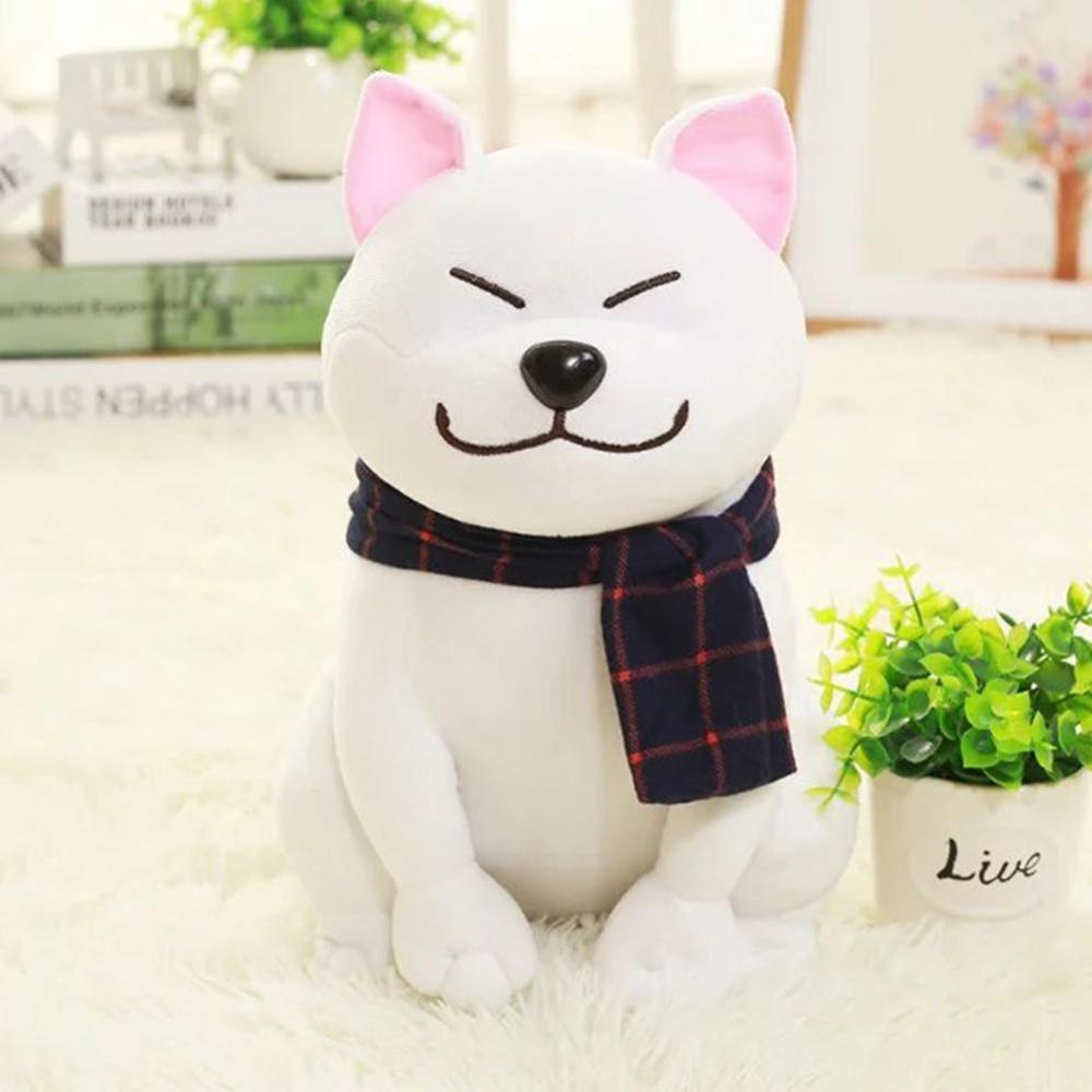 "Cute Akita Dog Plush Toy Boneka Boneka Plush Sofa Bantal Bagus Hadiah Bandung Photo: ""-anak Rumah Tangga Gaya Ornamen: Putih Tinggi: 45 Cm-Intl"
