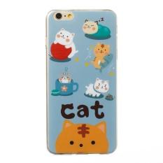 Cute Cat Case untuk Apple IPhone 6 S Plus/6 Plus Soft Lovely Hewan Kartun Case Silicone Warna Kawaii Case Girl Manis Pelindung Case-Intl
