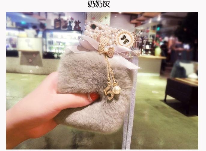 Review Tentang Cute Plush Diamond Lace Bow Crystal Lanyard Phone Case Back Cover For Oppo F5 Intl