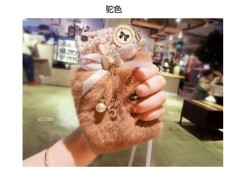 Lucu Mewah Berlian Renda Busur + Kristal Tali Penyandang Telepon Casing Sampul Belakang untuk Xiaomi Mi