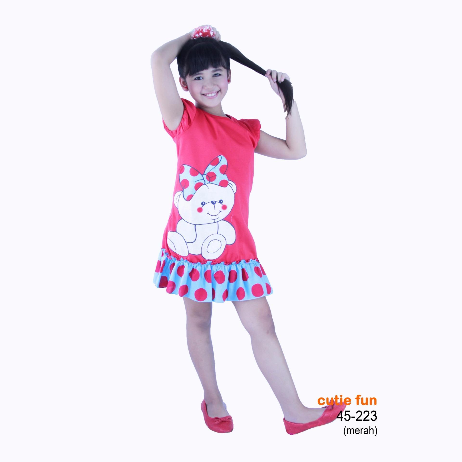 Spesifikasi Cutie Fun 45 223 Pakaian Baju Dress Anak Perempuan Usia 2 11 Tahun Paling Bagus