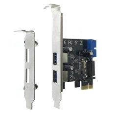 Harga Cwxuan Kecepatan Tinggi Pci E 2 Port Usb 3 Extension Card Adapter Hitam Intl Merk Cwxuan