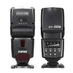 CY-450M Speedlite GN36 Sync Nirkabel Flash M/A/S/SD Senter Pantul Wide-Angle Diffuser untuk Canon EOS 550D 600D 650D 700D/Rebel T2i T3i T4i T5i untuk Nikon D5500 D5200 D3200 D5300 D3300 untuk Sony (alpha) pentax Olympus Kamera Panasonic-Intl