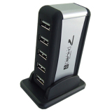 Jual Cepat Cyber 7 Ports Usb Hub Powered Ac Adapter Cable High Speed Black