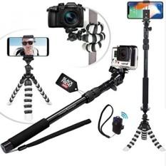CYBER SELASA DEAL-NEW HD Fleksibel Tripod & Selfie Stick 4-In-1 Foto/Video Bundle W/Bluetooth Remote-Menciptakan Alam Ini dengan Baik Kit untuk IPhone 7 & 6 Plus, samsung S8, GOPRO HERO 5 & Kamera-Intl