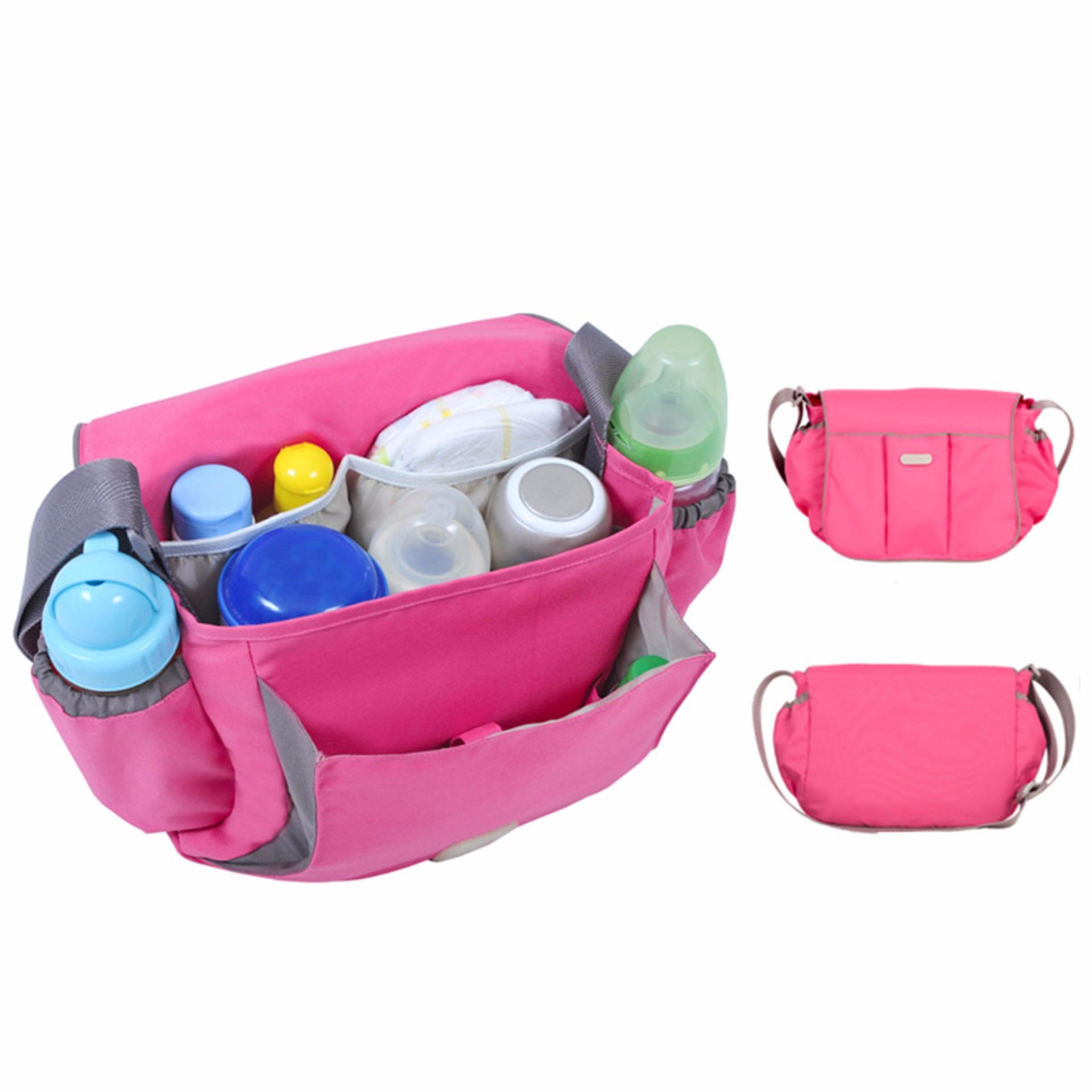 Spesifikasi D Renbellony Zoey Baby Bag Magenta Tas Bayi Diaper Bag Tas Diaper Lengkap