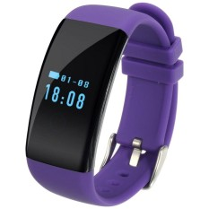 D21 0.66 inch OLED Screen Display Bluetooth Smart Bracelet, IP66 Waterproof, Support Pedometer / Anti-lost Reminder / Heart Rate Monitor / Sleep Monitor, Compatible with Android and iOS Phones(Purple) - intl
