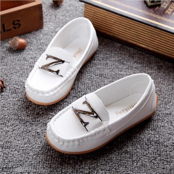Ulasan Lengkap D45 Baru Fashion Bayi Gadis S Boy S Kid Murni Pu Kulit Pola Z Casual Karet Kacang Sepatu Warna Putih Intl