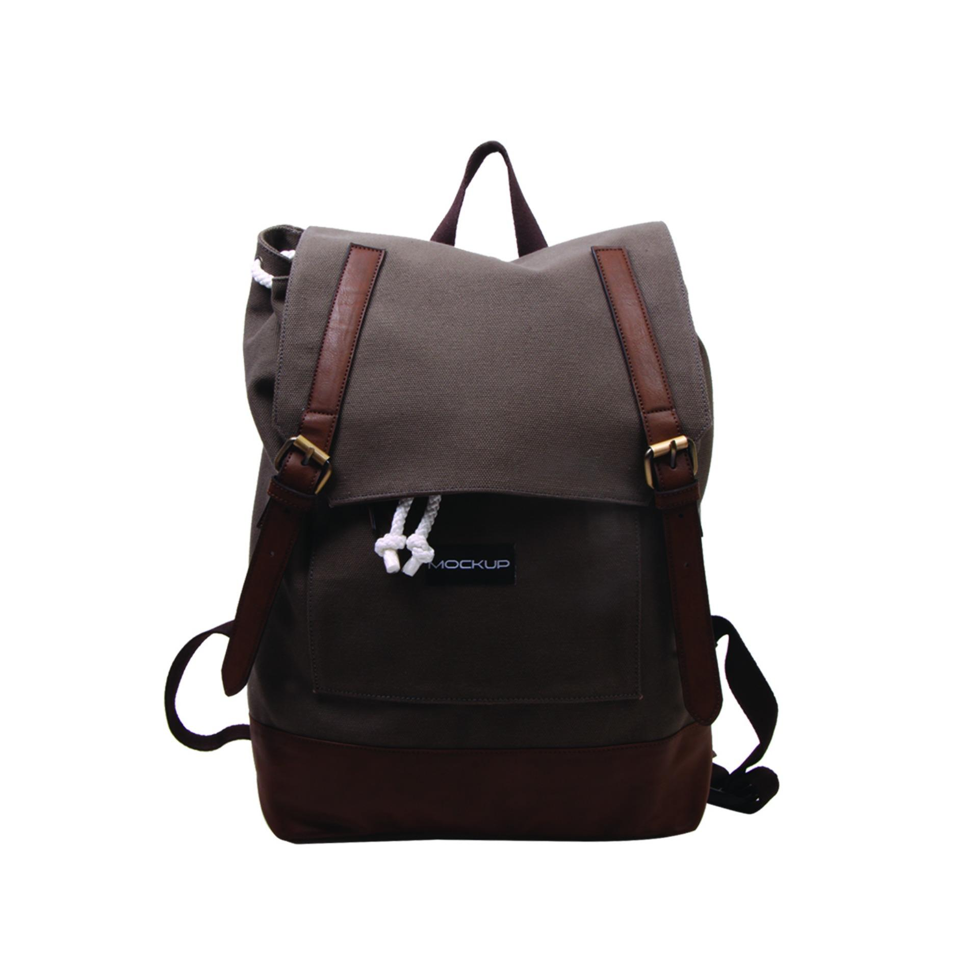 Daily Backpack Mockup BBP.57/Tas Unisex- chocolate
