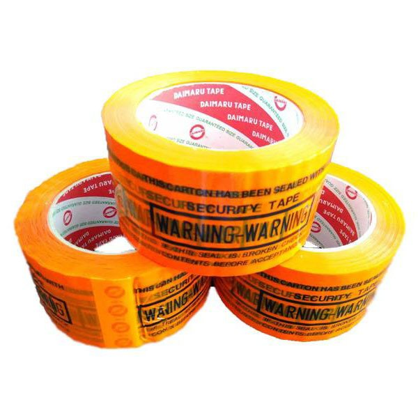 Harga Daimaru Lakban Segel Secure Warning Oren Bundle Pack 3 Pcs Lengkap