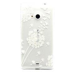 Dandelion Ultra Tipis Lembut TPU Case Belakang untuk Microsoft Lumia 535 (putih)