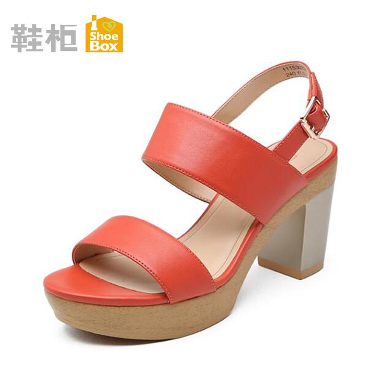 Harga Daphne Warna Solid Lemari Sepatu Horizontal Sabuk Bertumit Tinggi Sandal Summer 129 Jeruk Sepatu Wanita Sendal Wanita Yang Murah