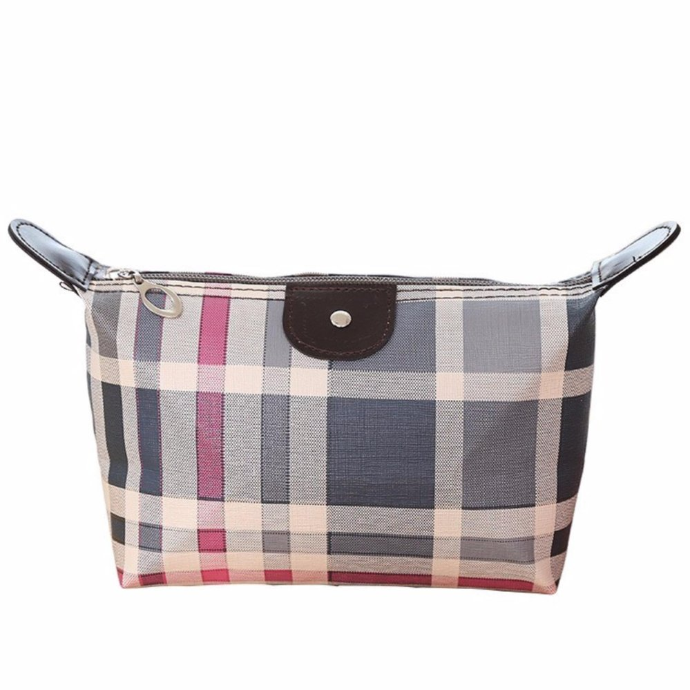 DapurBunda Cosmetic Pouch Long Champ Motif / Tas Dompet Kosmetik / Tempat Make Up bag - Kotak