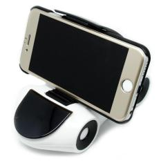 Dashboard Stand Smartphone Car Holder 360 Rotary - White/Black
