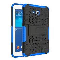 Mempesona butir 2-in-1 Protection Shell Case belakang untuk Samsung Galaxy Tab3 Lite T110 T116 (biru)- International