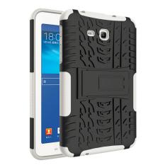 Mempesona Butir 2-In-1 Protection Shell Case Belakang untuk Samsung Galaxy Tab3 Lite T110 T116 (Putih) -Internasional