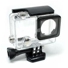 Dazzne Waterproof Flat Button Housing Case For GoPro Hero 4 - DZ-307 - Black