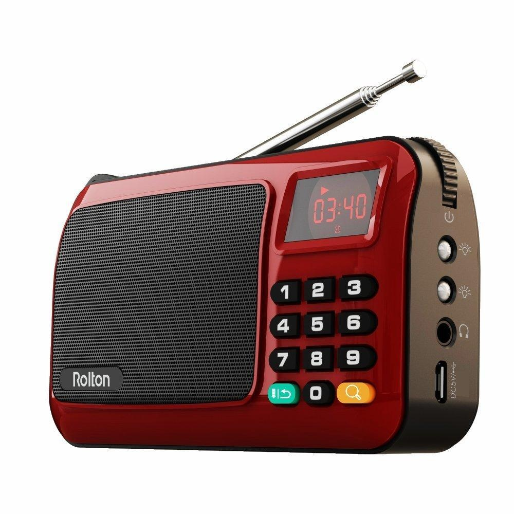 Harga Dc 3 7 V Portable Aux Fm Radio Speaker Music Player Senter With Led Display Online