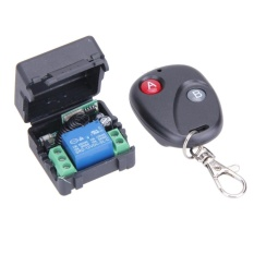 Beli Dc12V 10A 1Ch Wireless Remote Control Switch Transmitter With Receiver Black 433Mhz Intl Tiongkok