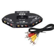 DCS AV Selector switch 3 in 1out + Kabel Rca