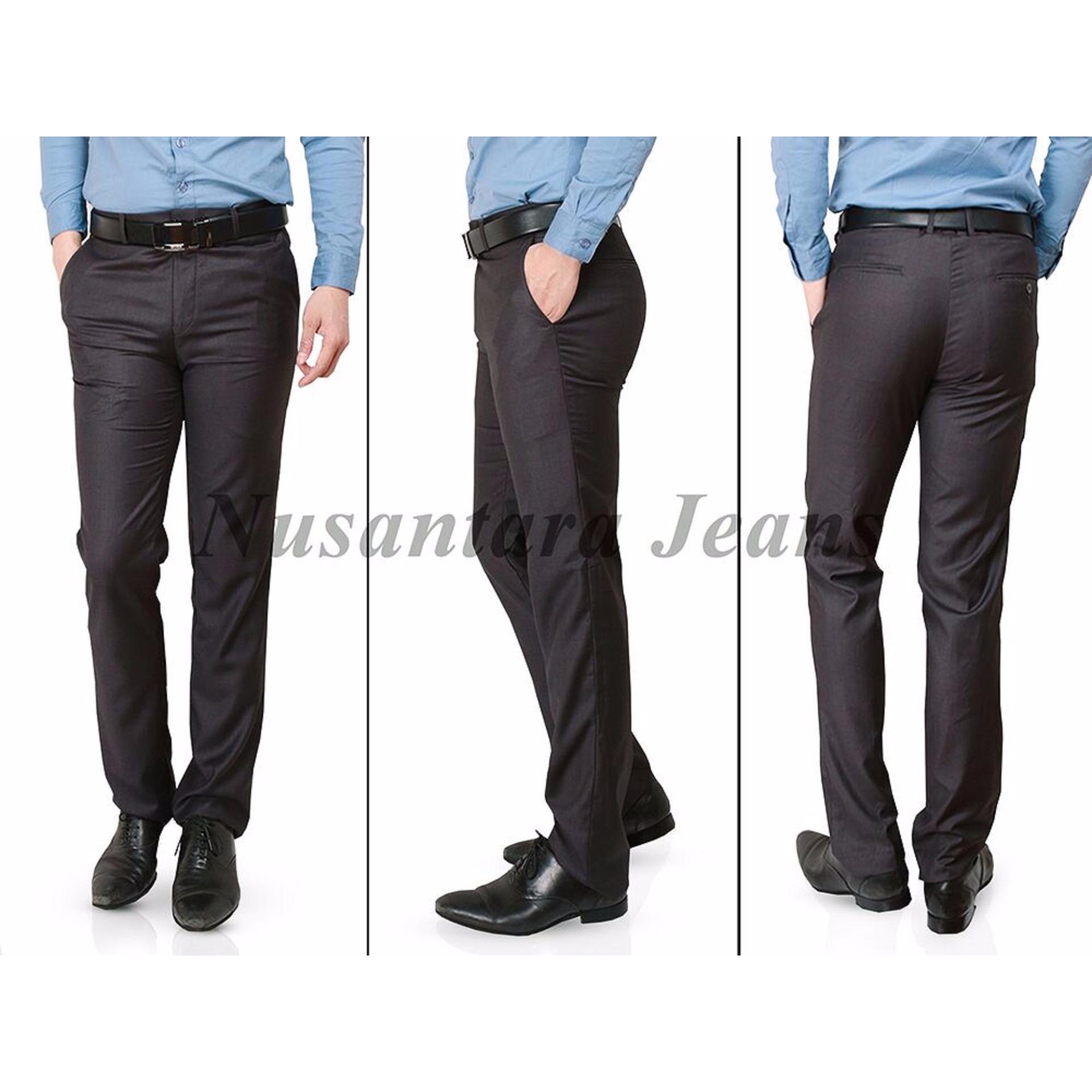 Harga De Paoli Celana Bahan Premium Slim Fit Abu Tua Paling Murah