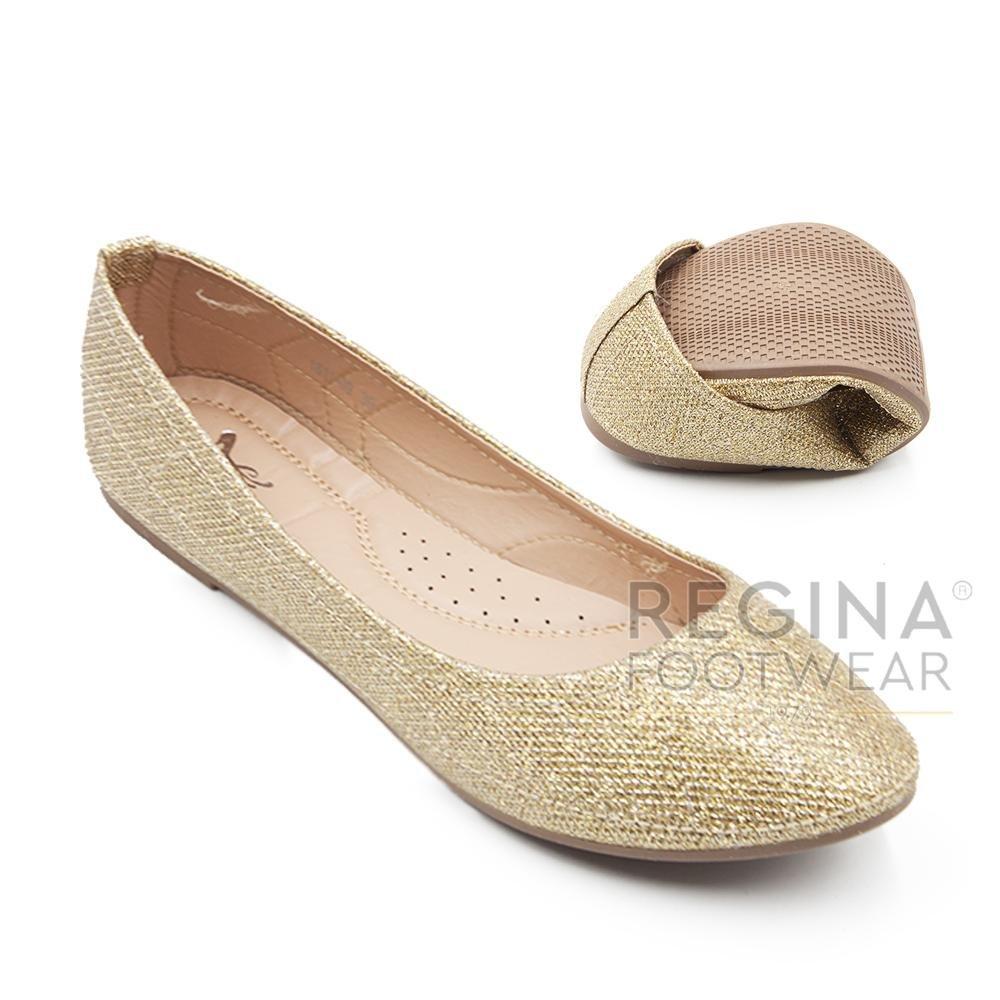 Harga Dea Sepatu Flat Trepes Selop Flat Shoes 1611 09 Gold Termahal