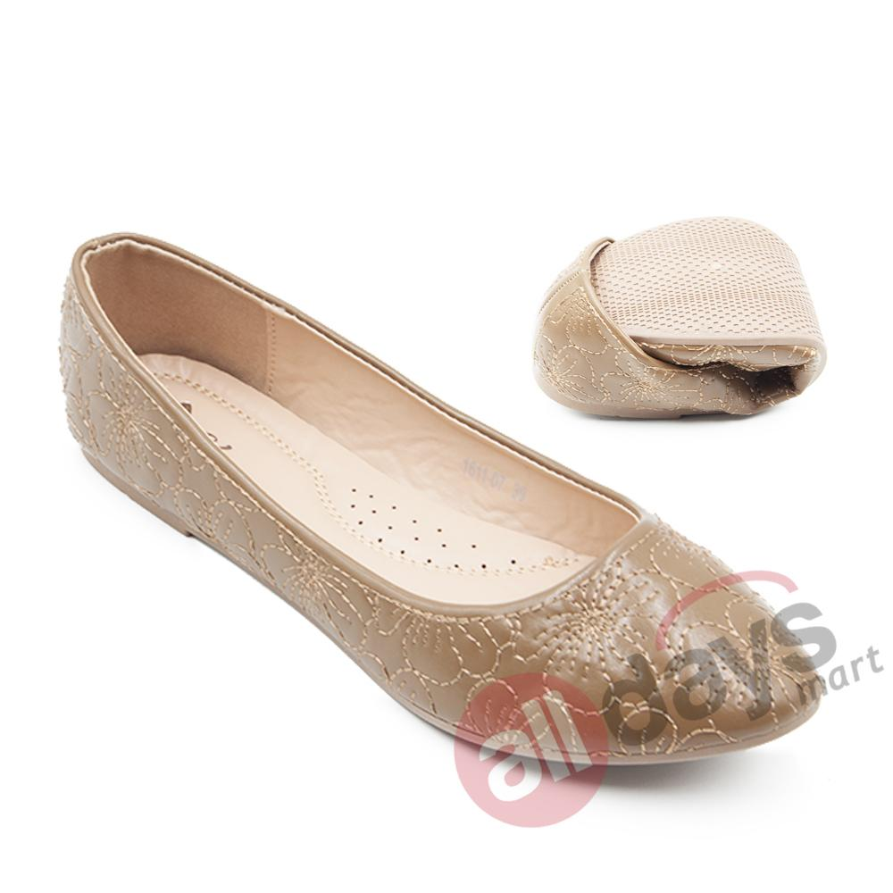Harga Dea Sepatu Flat Trepes Selop Lady Flat Shoes 1611 07 Khaki Termurah