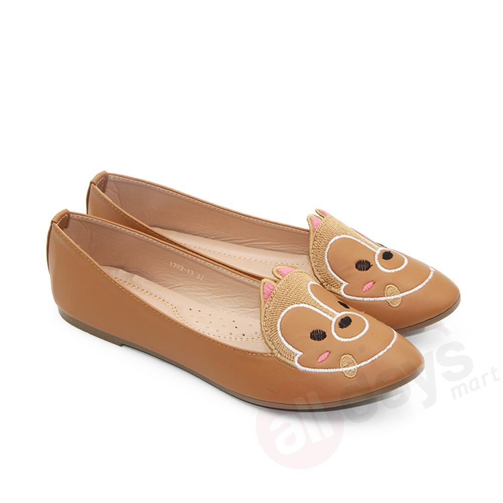 Spesifikasi Dea Sepatu Flat Wanita Trepes Selop Flat Shoes 1702 13 Camel Size 36 41 Dea Terbaru