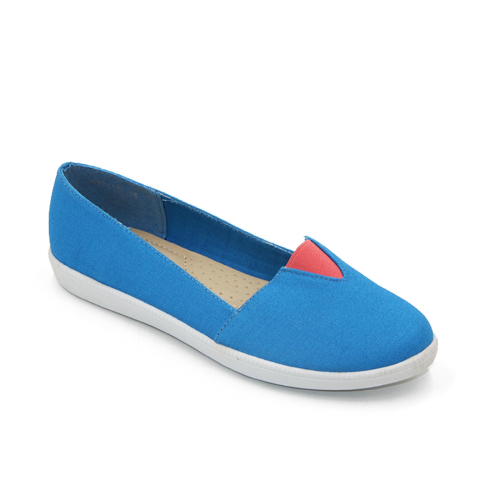 Jual Dea Sepatu Wanita Murah Garansi Dan Berkualitas Id Store Pantofel 1712 A115 Beige Hak 5 Cm Rp 79900 Kanvas Slip On