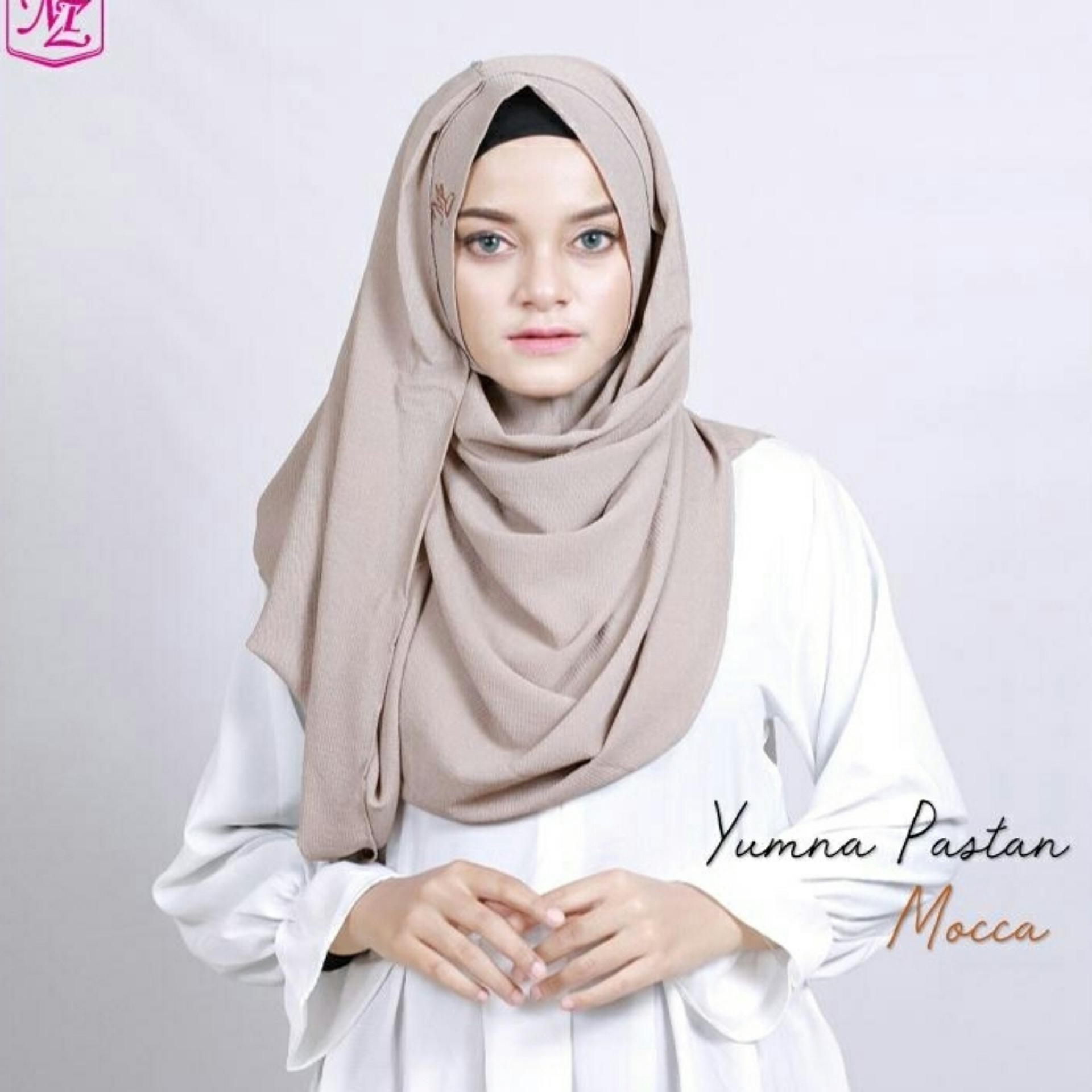 Harga Jilbab Pashmina Instan Lipit Kerudung Hijab Pastan Pasmina  Medium Deehaya Store Yumna Terbaru