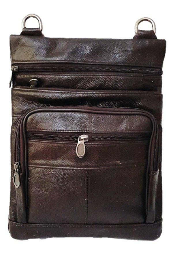 Jual Deerde Sling Bag Organizer Kulit Asli Import Sb011 Coklat Deerde Asli