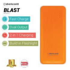 Review Delcell Blast Powerbank 9000Mah Real Capacity Orange Terbaru