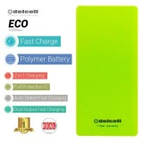 Delcell Eco Powerbank 10000Mah Real Capacity Green Murah