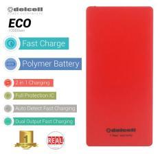 Beli Delcell Eco Powerbank 10000Mah Real Capacity Red Kredit Dki Jakarta