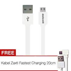 Jual Delcell Kabel Zaxti Flat 2A Faster Charging Micro Usb 6Th Generation 100Cm Putih Gratis Zaxti 20Cm Antik