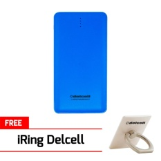 Delcell 10500mAh Powerbank NOTE Real Capacity Slim Powerbank Polymer Battery Build in Cable Fast Ch