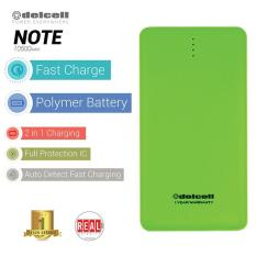 Jual Delcell Note Powerbank 10500Mah Real Capacity Hijau Delcell Branded