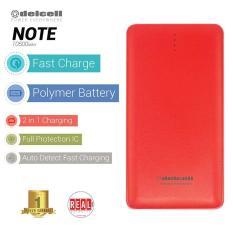 Toko Jual Delcell Note Powerbank 10500Mah Real Capacity Merah
