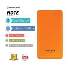 Harga Delcell Note Powerbank 10500Mah Real Capacity Orange Delcell Original