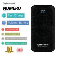Harga Delcell Numero Powerbank Fast Charge 10500Mah Real Capacity Digital Display All Black Jawa Barat