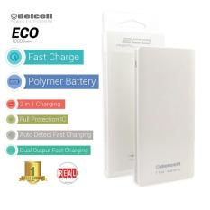 Review Delcell Power Bank Eco Polymer Battery Real Capacity 10000 Mah Putih Delcell Di Jawa Barat