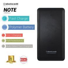 Diskon Produk Delcell Power Bank Note Polymer Battery Real Capacity 10500 Mah Hitam