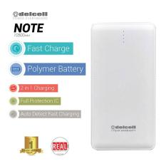 Harga Delcell Power Bank Note Polymer Battery Real Capacity 10500 Mah Putih Lengkap