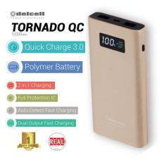 Toko Delcell Tornado Powerbank 10000Mah Support Quick Charge 3 0A Real Capacity Gold Delcell Dki Jakarta