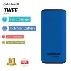 Jual Delcell Twee Powerbank 4000Mah Real Capacity Blue Lengkap